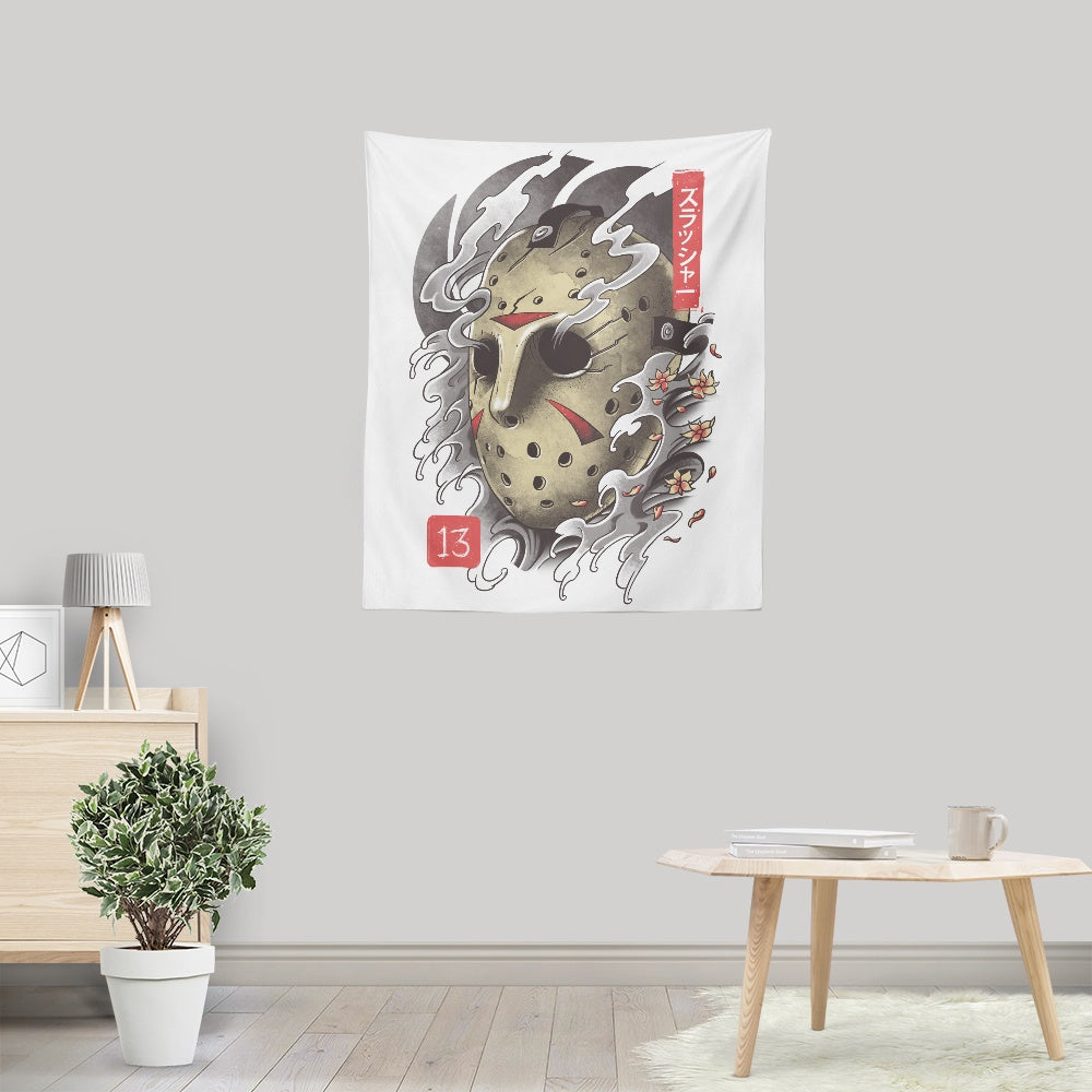Oni 13 Mask - Wall Tapestry