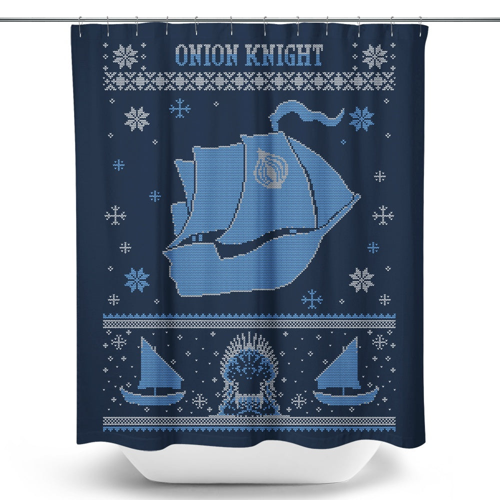 Onion Knight Sweater - Shower Curtain