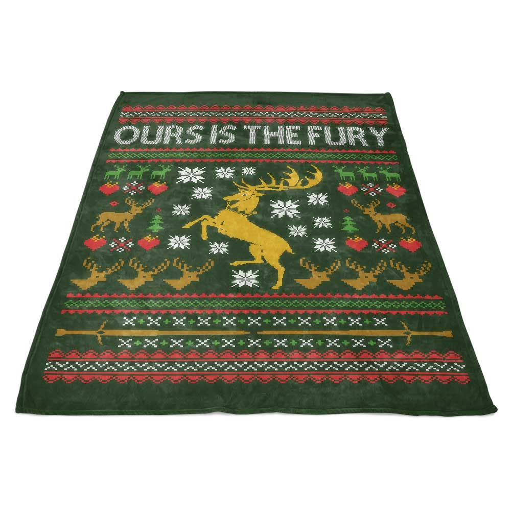 Ours is the Holiday - Fleece Blanket