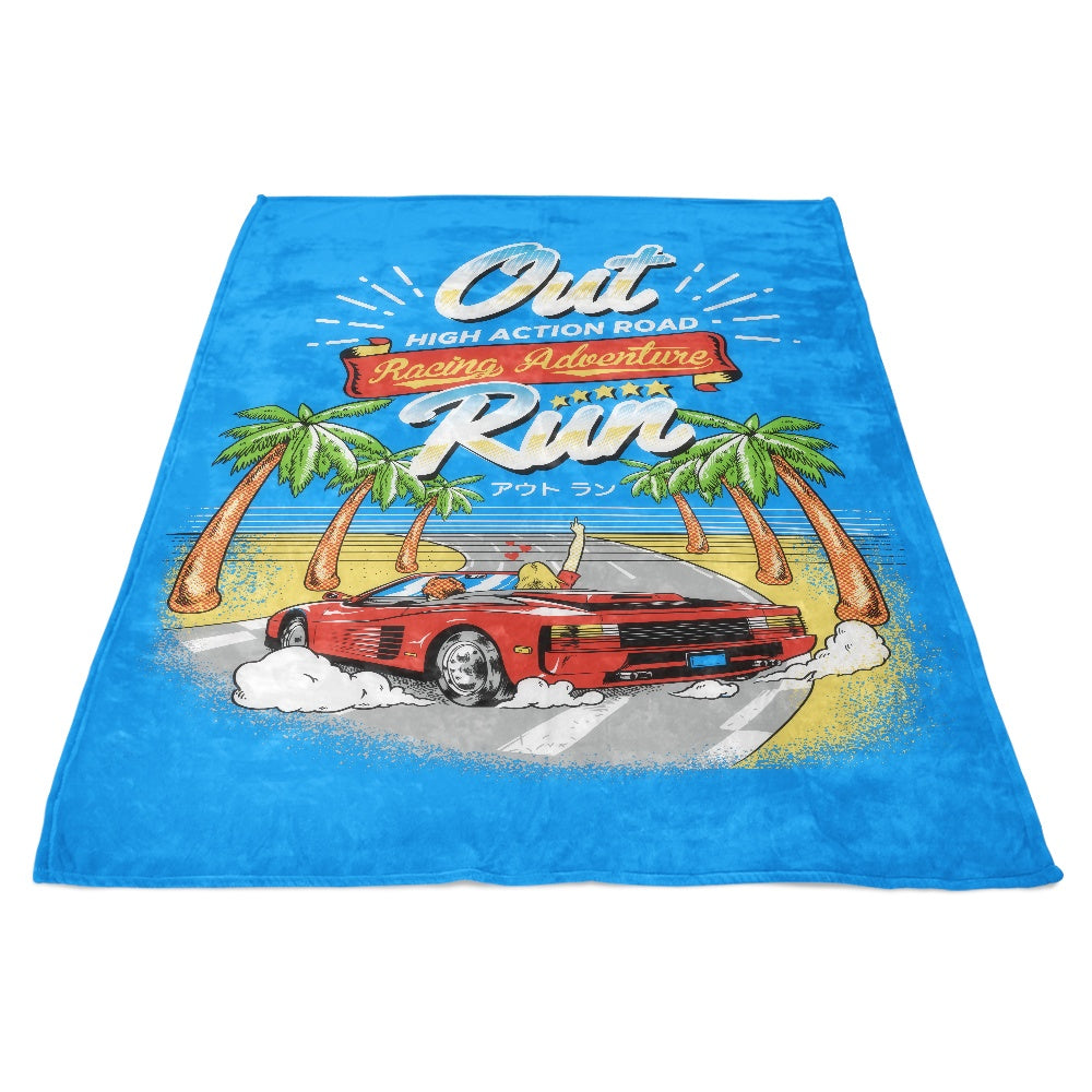 Outrun - Fleece Blanket