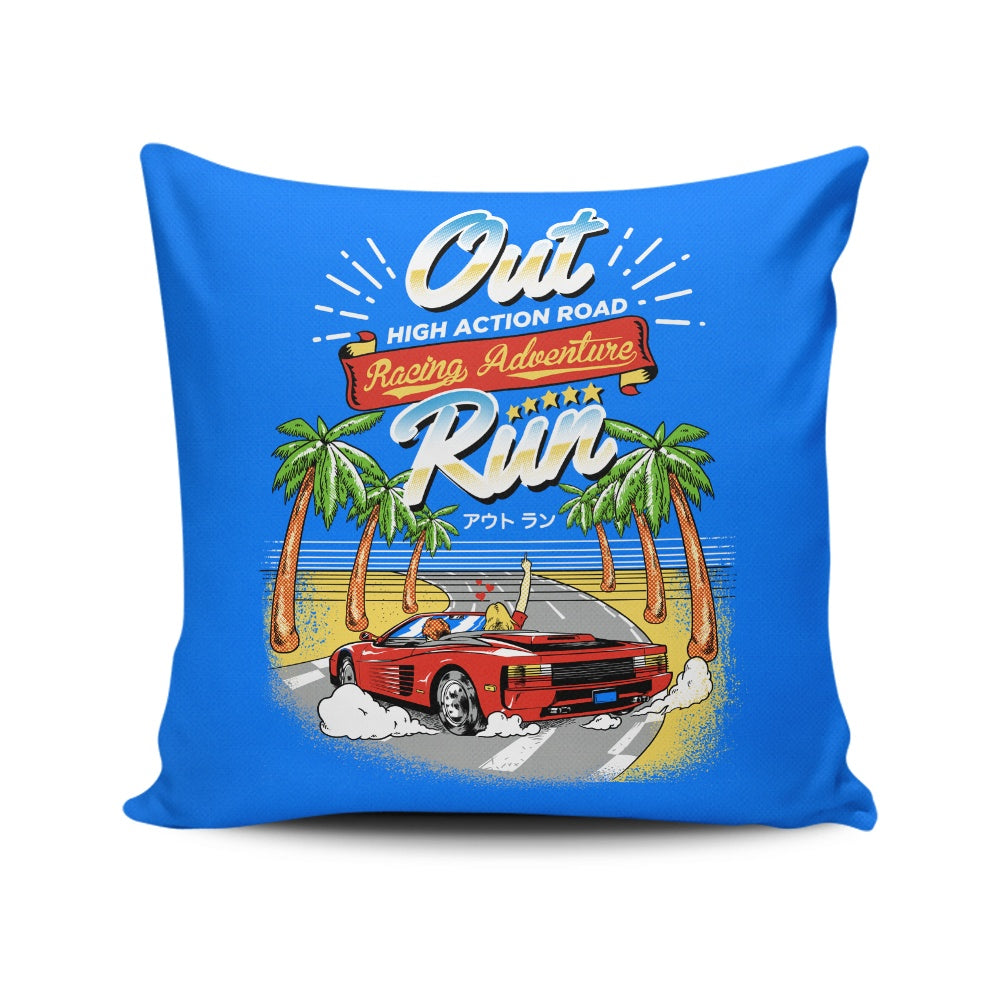 Outrun - Throw Pillow