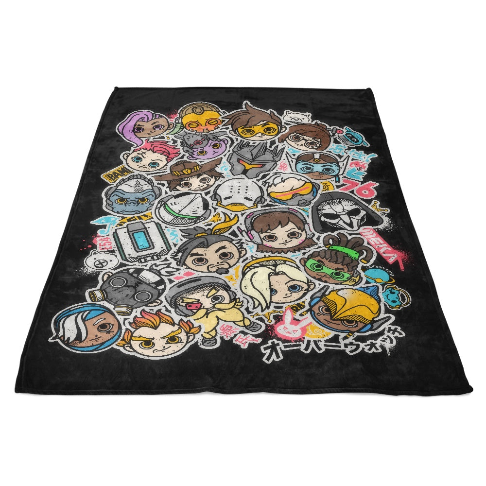 Overcute Heroes - Fleece Blanket