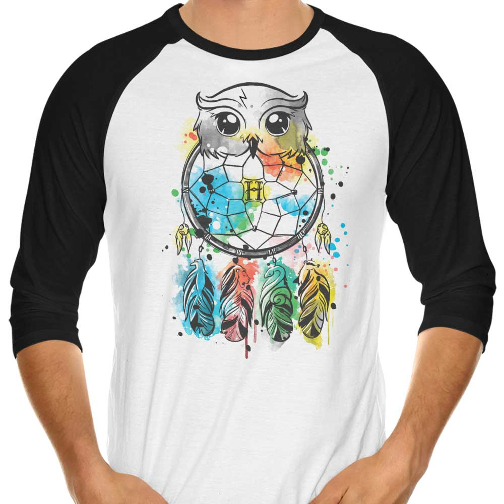 Owl Dreamcatcher - 3/4 Sleeve Raglan T-Shirt