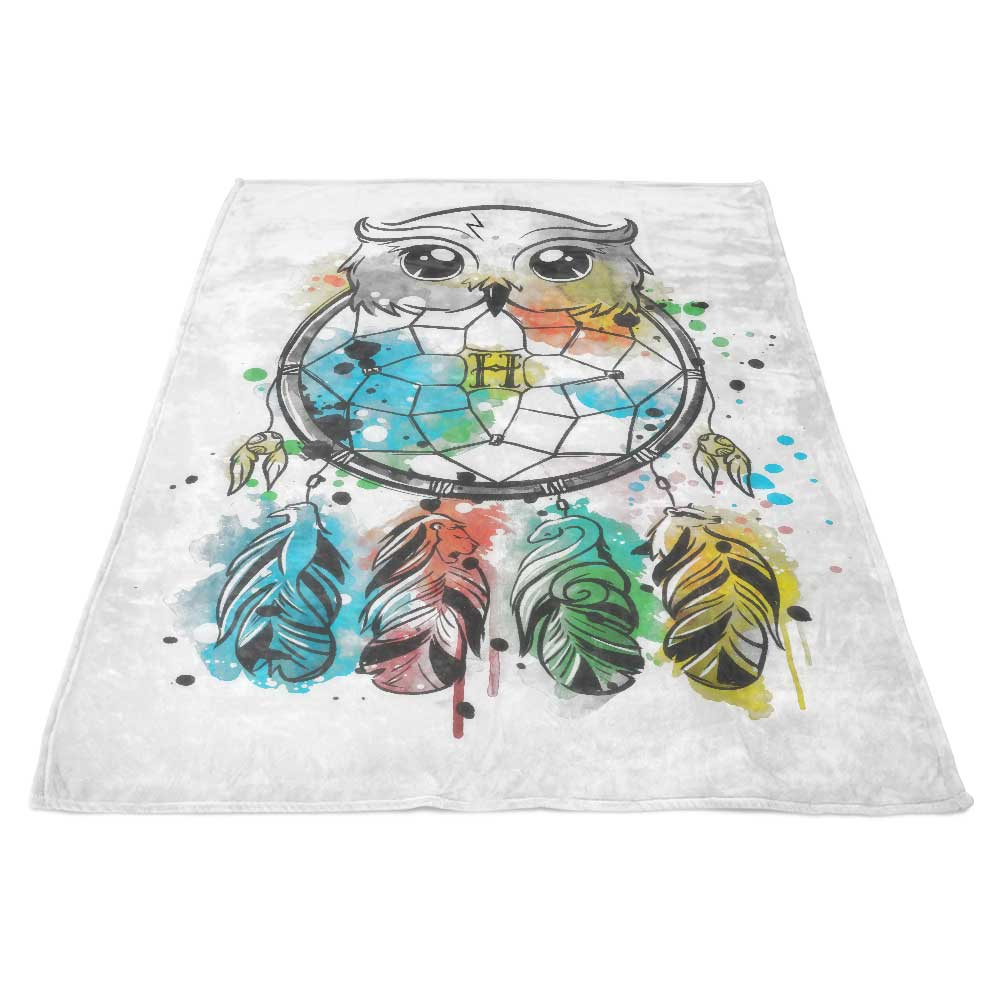 Owl Dreamcatcher - Fleece Blanket
