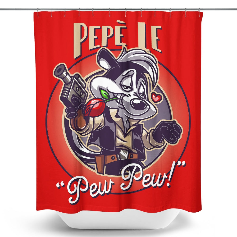 Pepe le Pew Pew - Shower Curtain