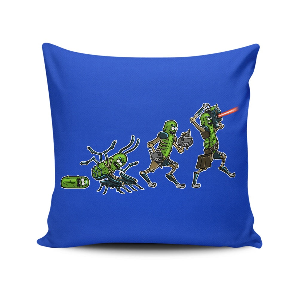 Pickle Evolution - Throw Pillow