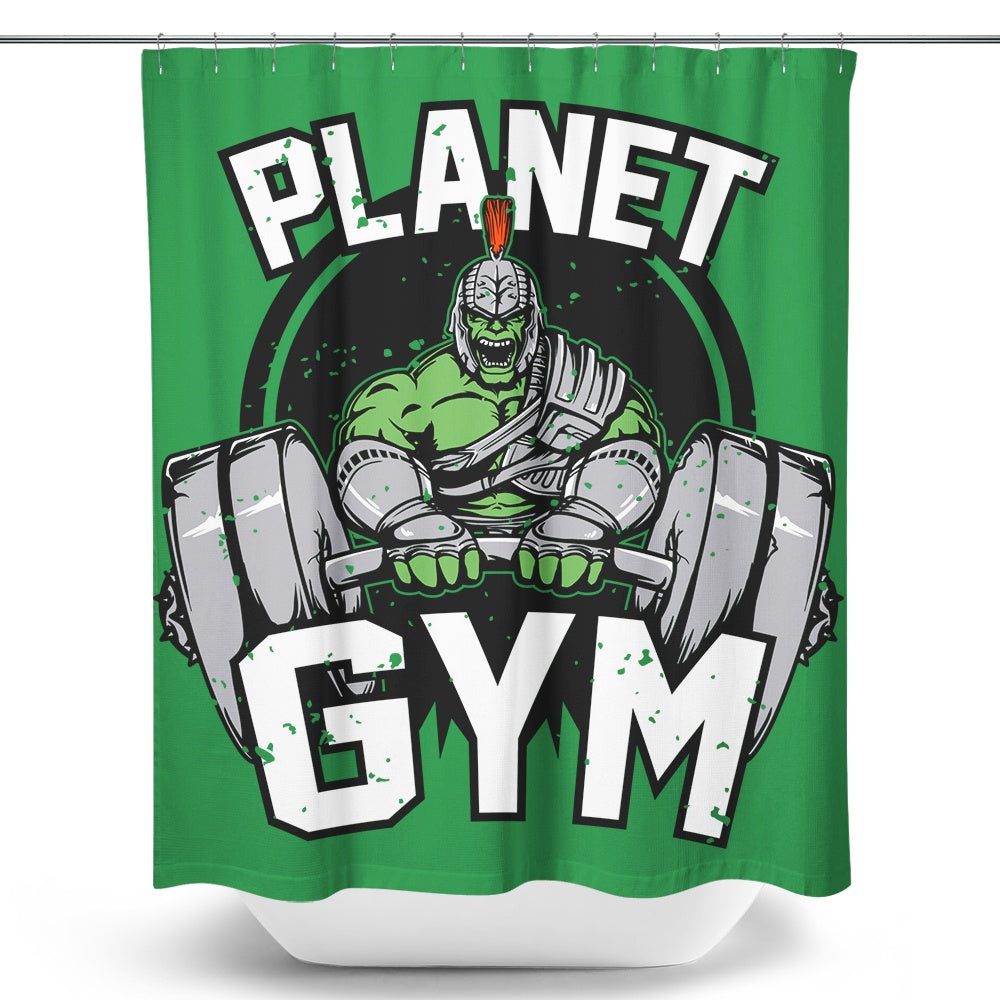 Planet Gym - Shower Curtain