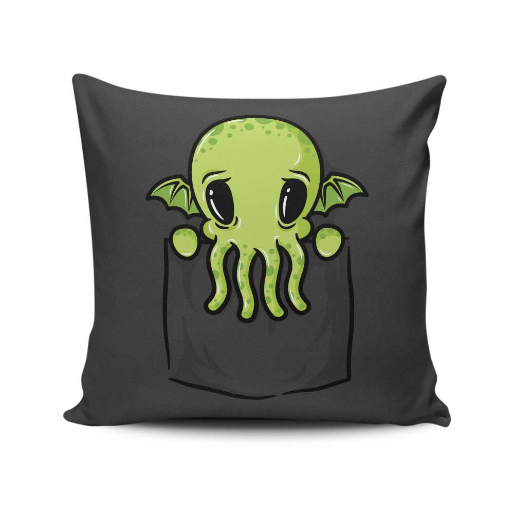 Pocket Cthulhu - Throw Pillow