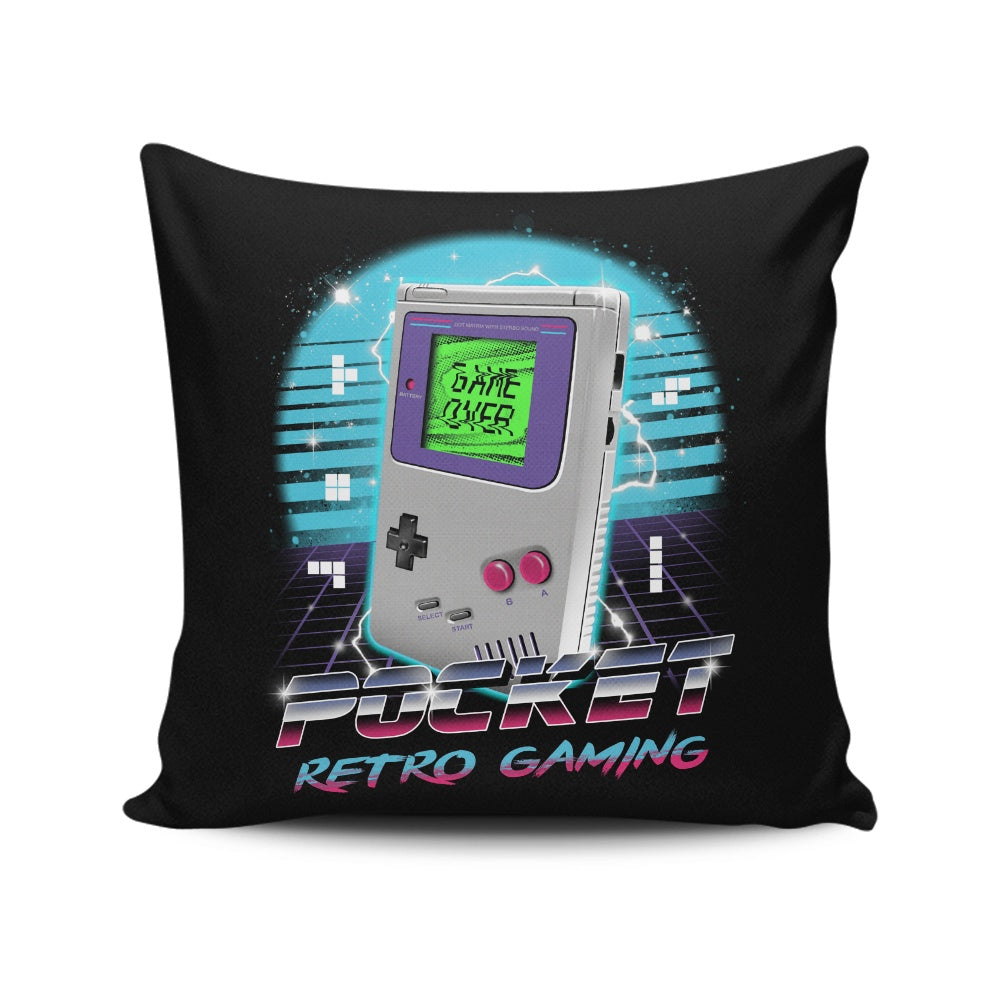 Pocket Retro Gaming - Throw Pillow