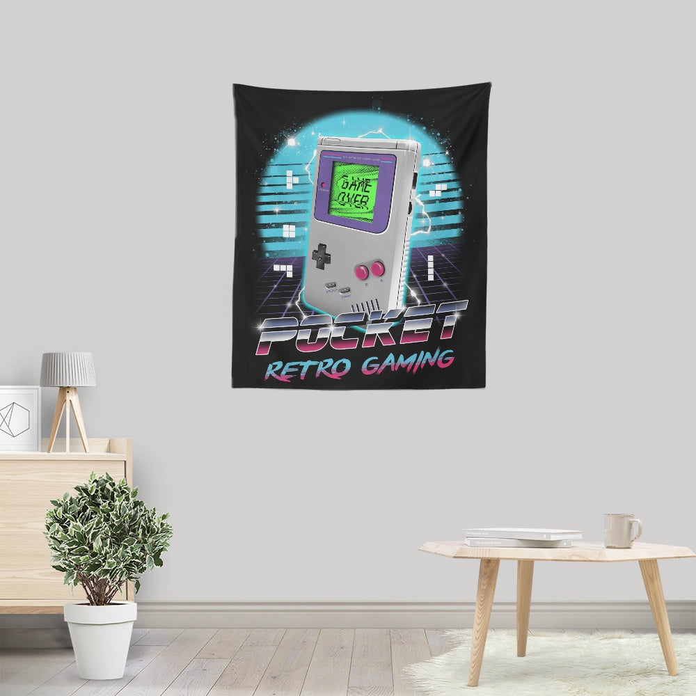 Pocket Retro Gaming - Wall Tapestry