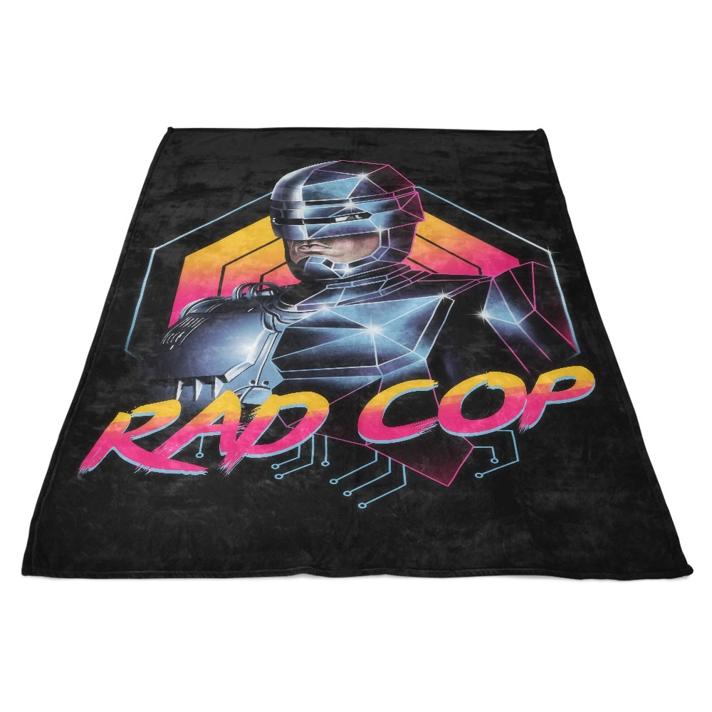 Rad Cop - Fleece Blanket