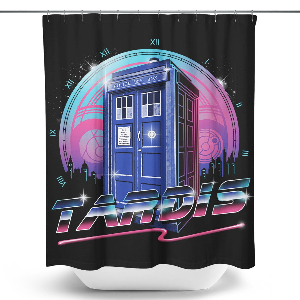Rad Tardis - Shower Curtain