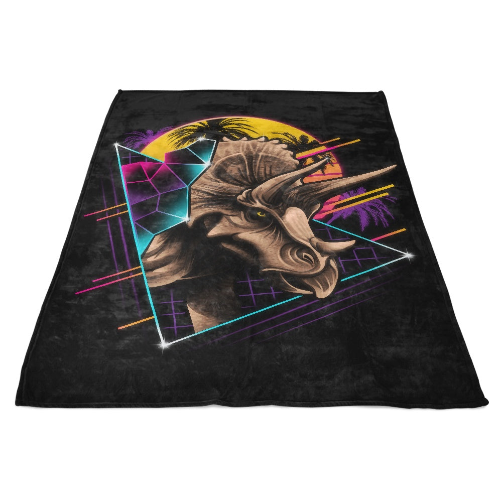 Rad Triceratops - Fleece Blanket