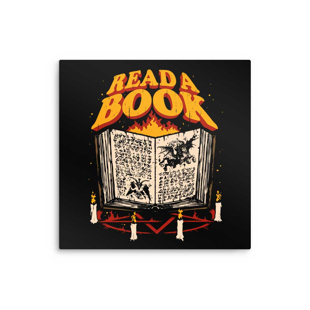 Read a Book - Metal Print