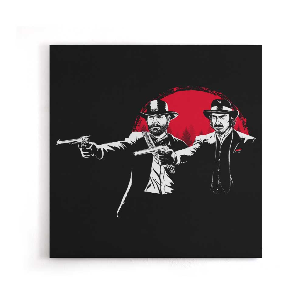 Red Dead Fiction - Canvas Print