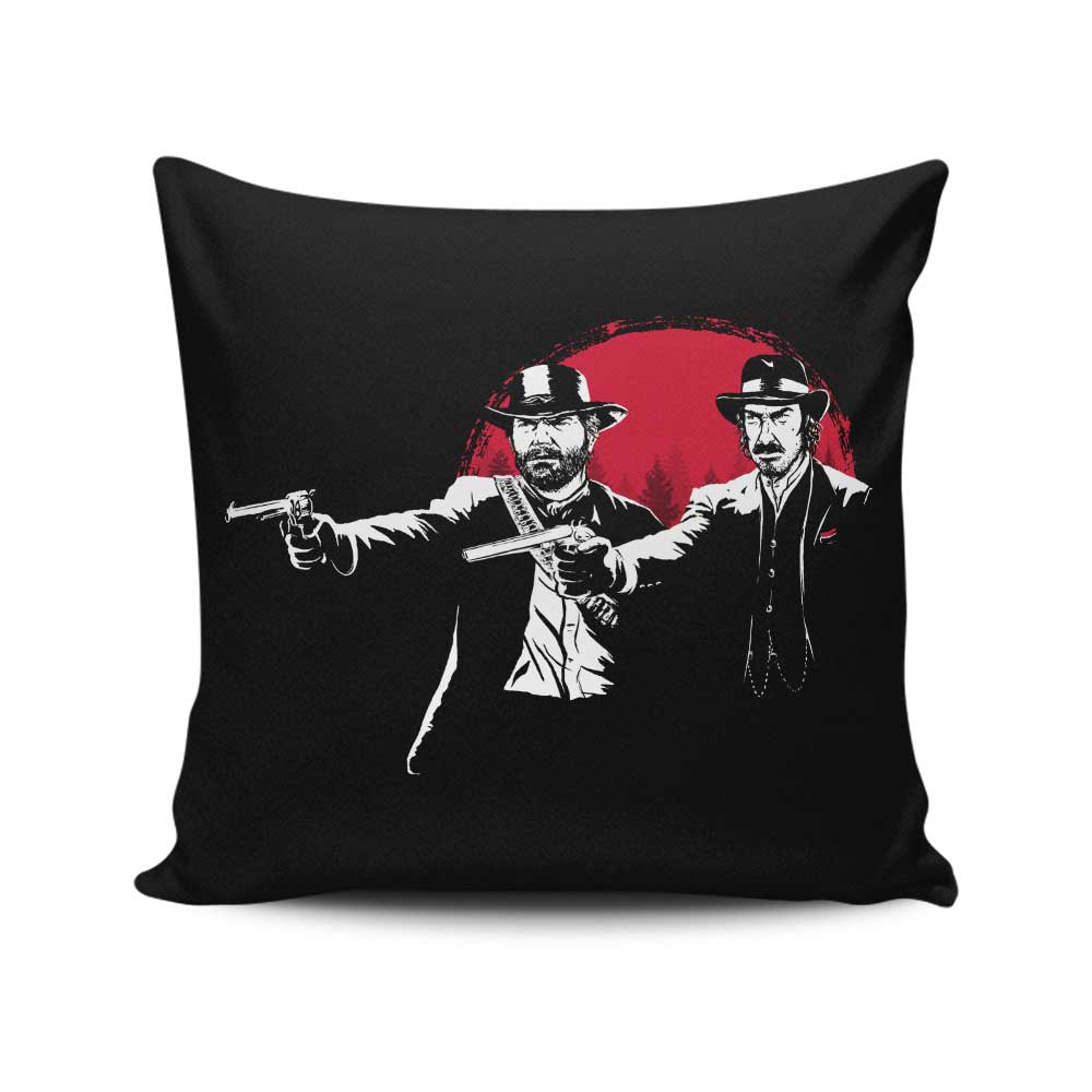 Red Dead Fiction - Throw Pillow