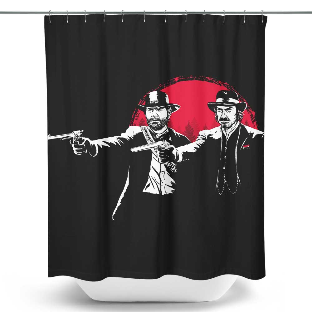 Red Dead Fiction - Shower Curtain