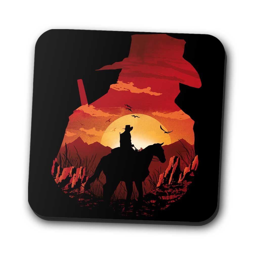 Red Dead Sunset - Coasters
