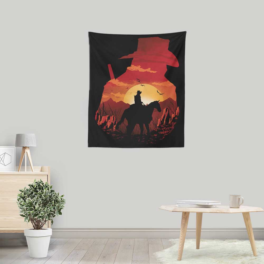 Red Dead Sunset - Wall Tapestry