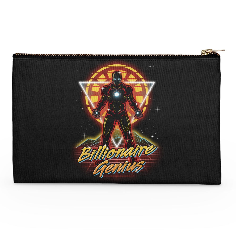 Retro Billionaire Genius - Accessory Pouch