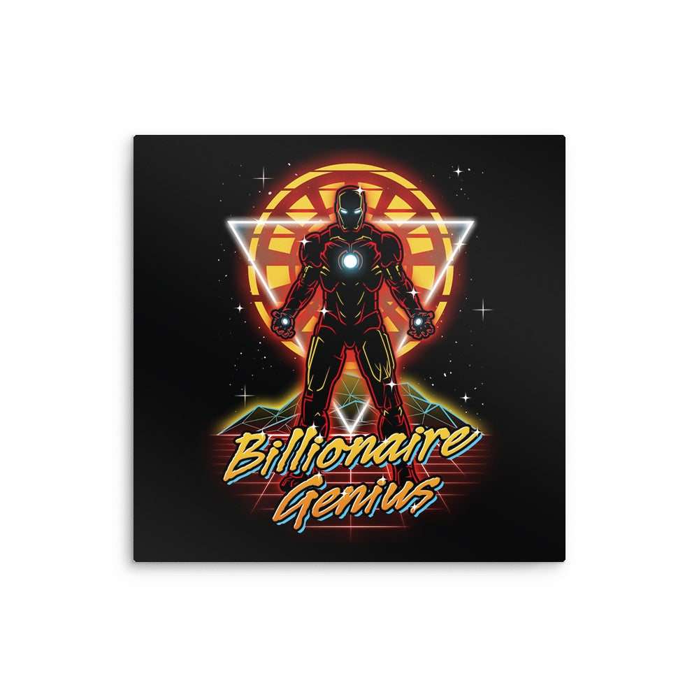 Retro Billionaire Genius - Metal Print
