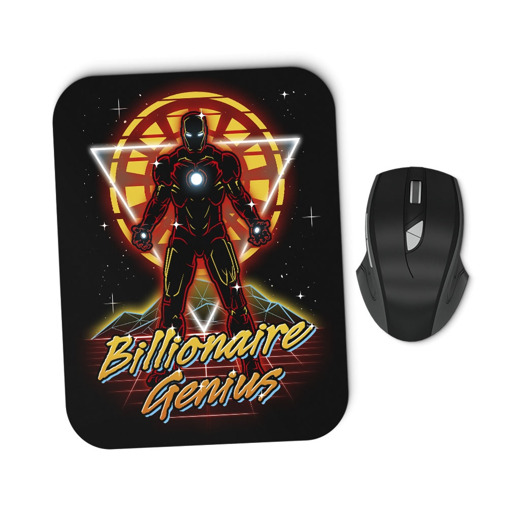 Retro Billionaire Genius - Mousepad