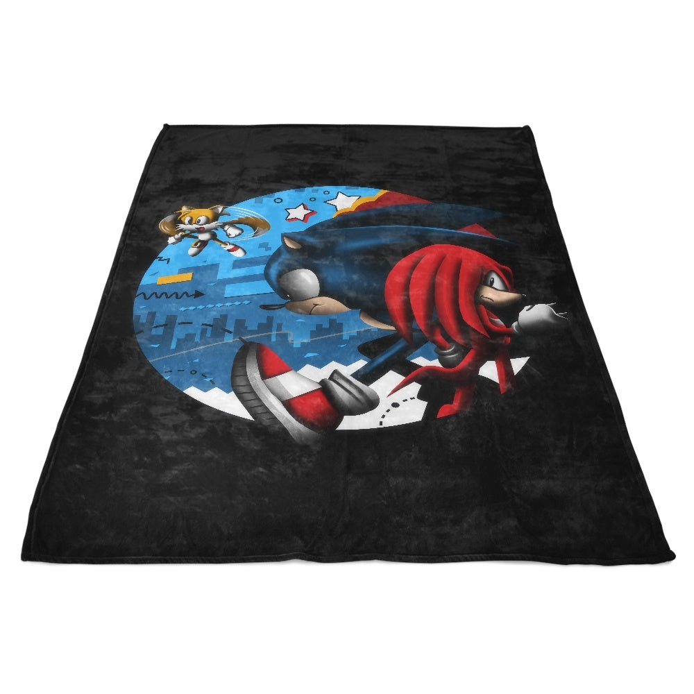 Retro Dashers - Fleece Blanket