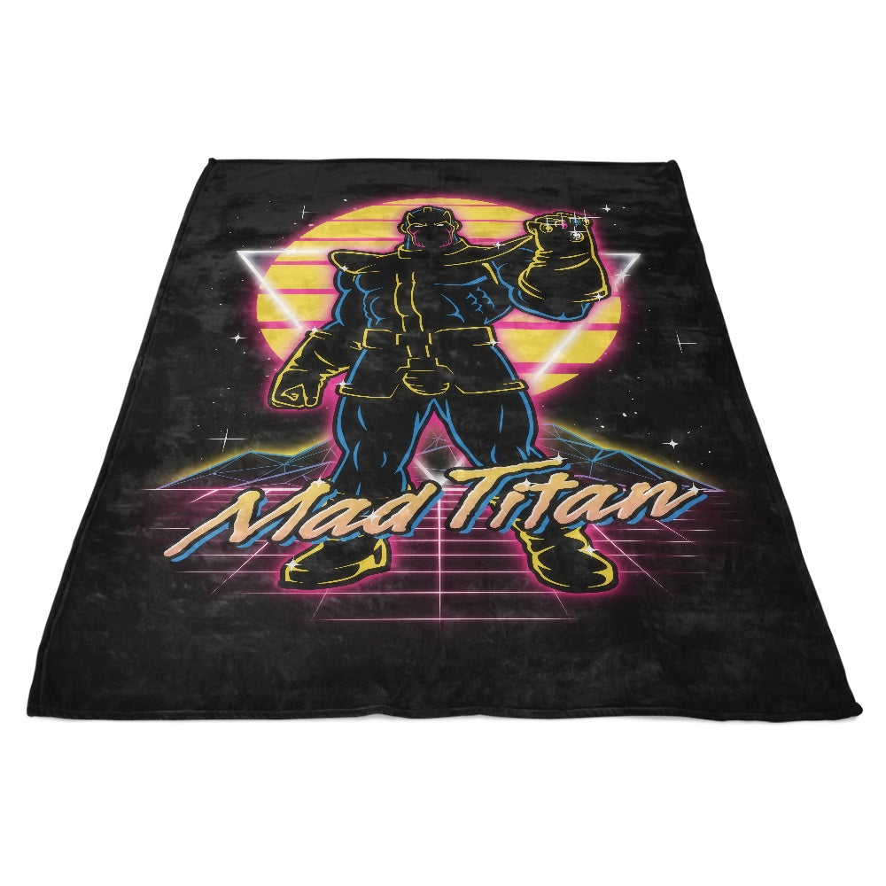 Retro Mad Titan - Fleece Blanket