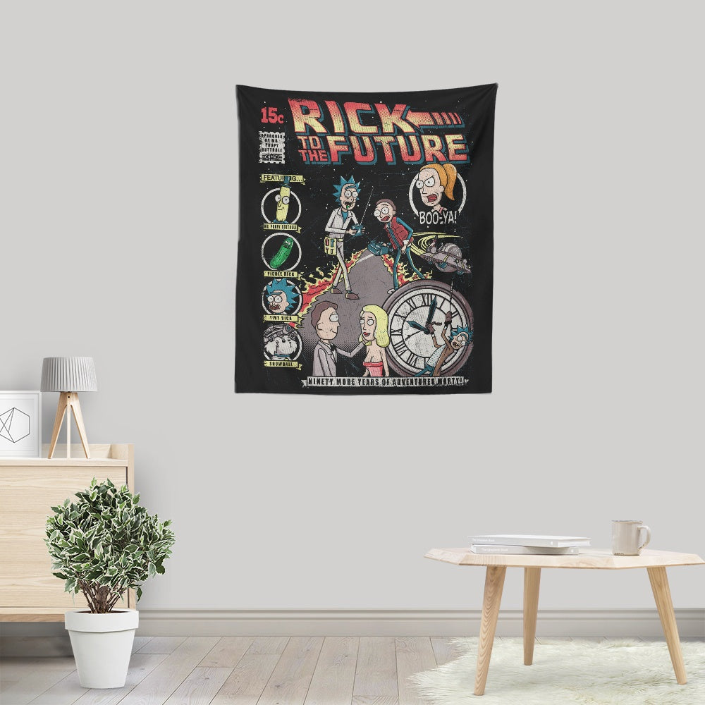 Rick to the Future - Wall Tapestry