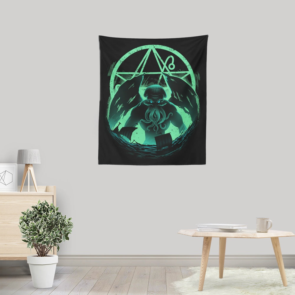 Rise of Cthulhu - Wall Tapestry