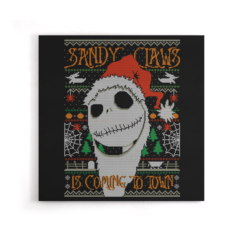 Sandy Claws - Canvas Print
