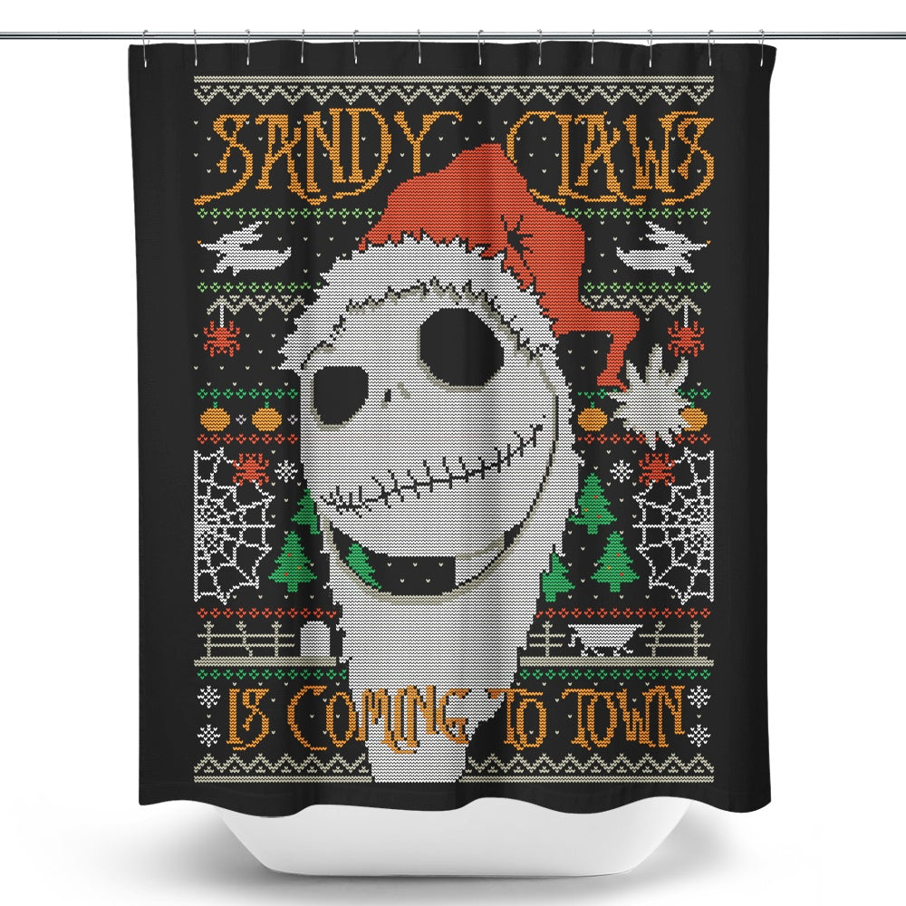 Sandy Claws - Shower Curtain