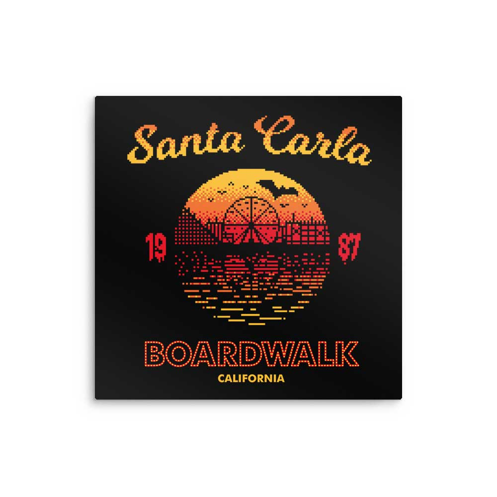 Santa Carla Sunset - Metal Print