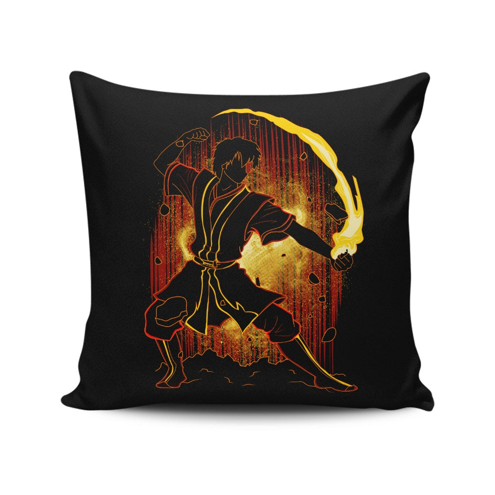 Shadow of Fire - Throw Pillow