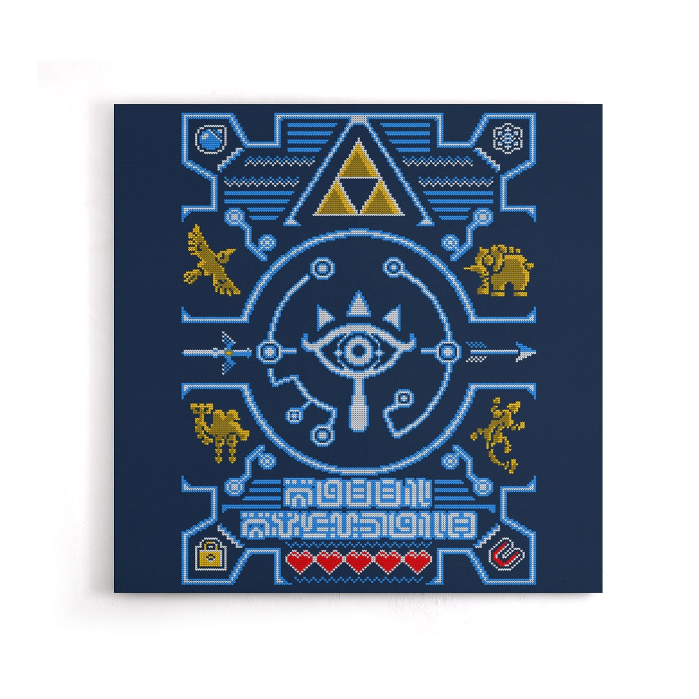 Sheikah Sweater - Canvas Print