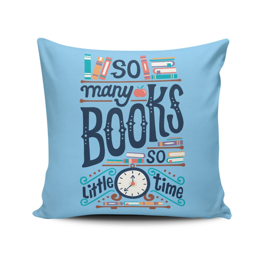 So Many Books - Throw Pillow