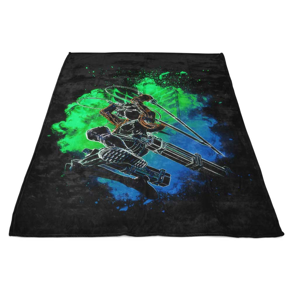 Soul of the Titan Boy - Fleece Blanket
