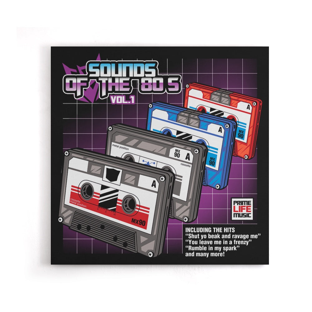 Sound of the 80's Vol. 1 - Canvas Print