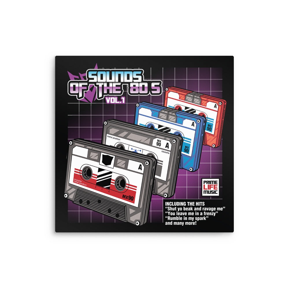 Sound of the 80's Vol. 1 - Metal Print