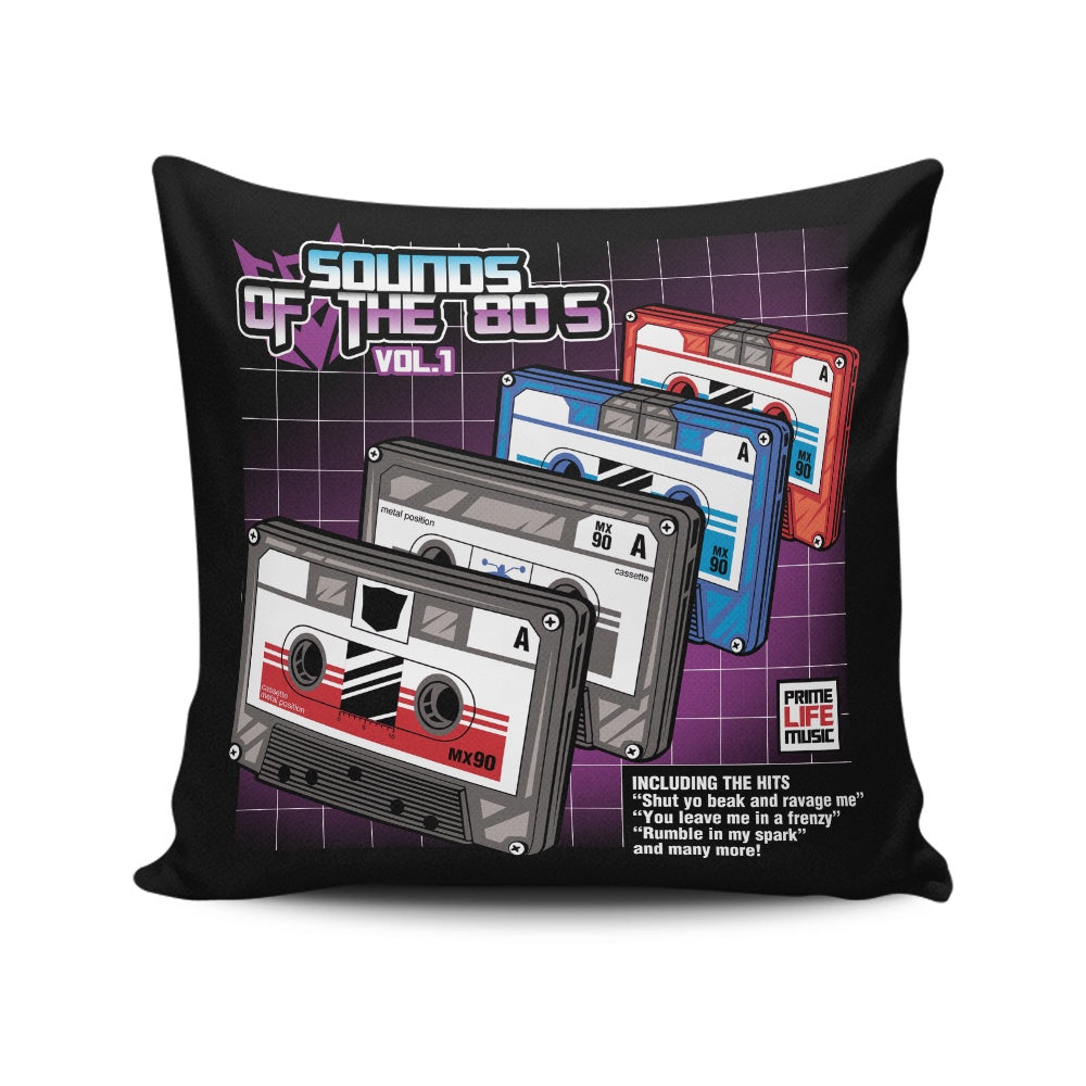 Sound of the 80's Vol. 1 - Throw Pillow