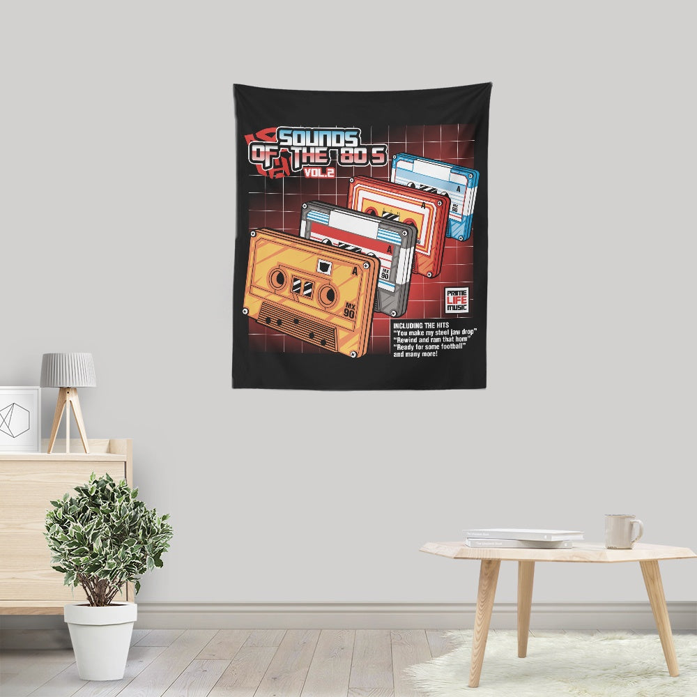 Sound of the 80's Vol. 2 - Wall Tapestry