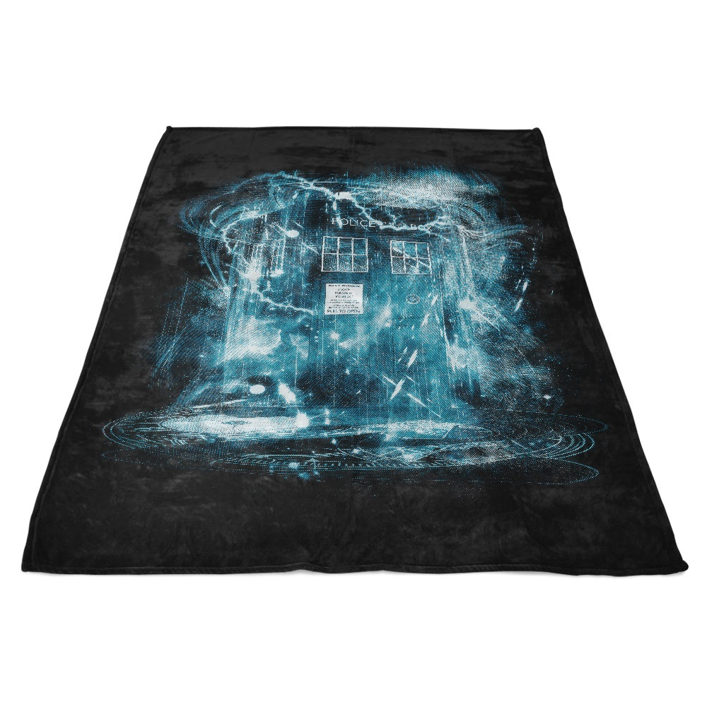 Space and Time Storm - Fleece Blanket