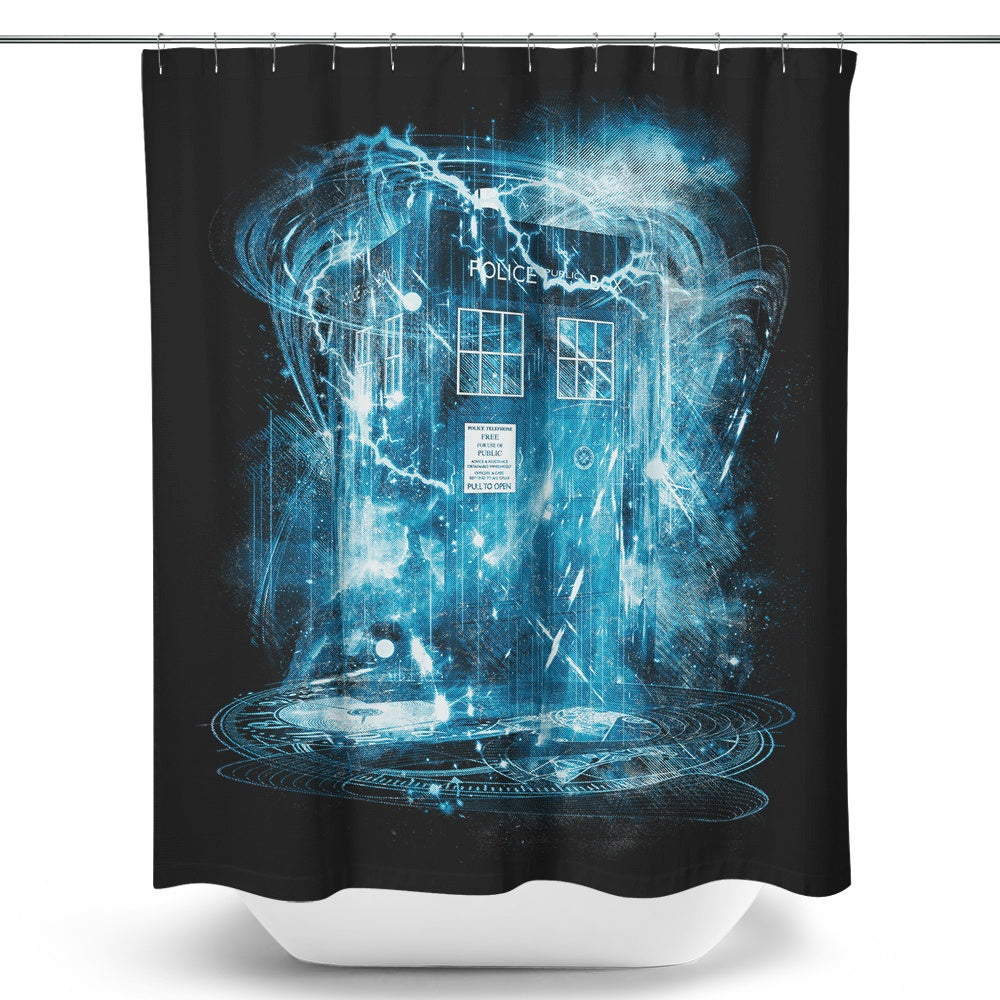 Space and Time Storm - Shower Curtain