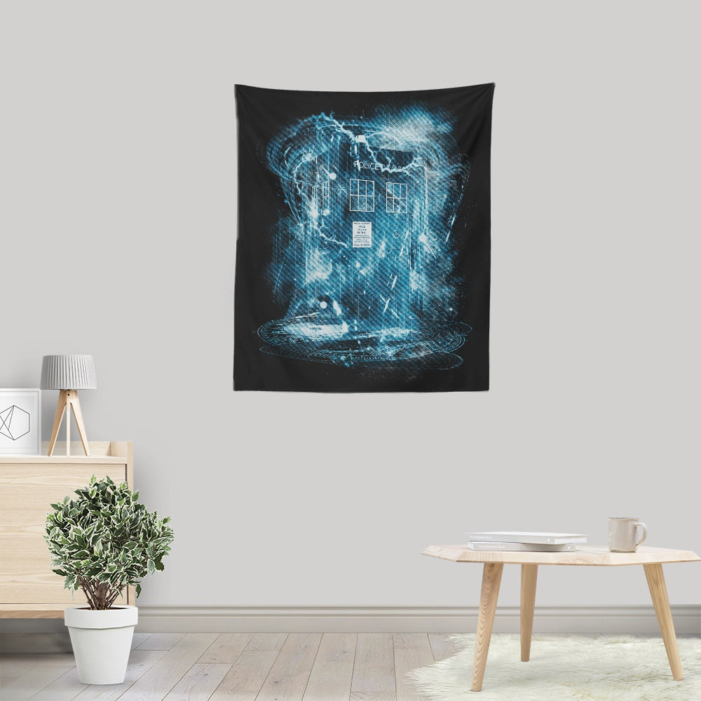 Space and Time Storm - Wall Tapestry
