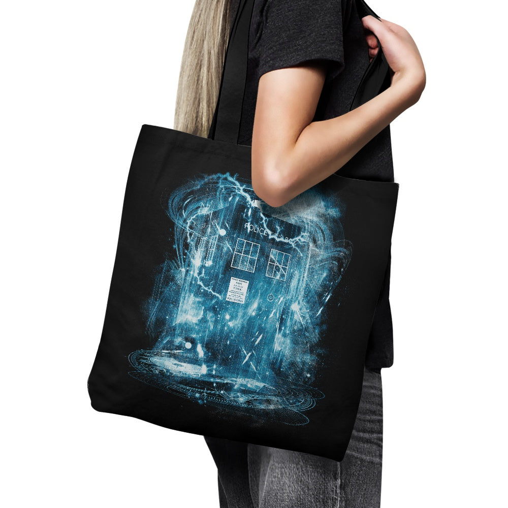 Space and Time Storm - Tote Bag