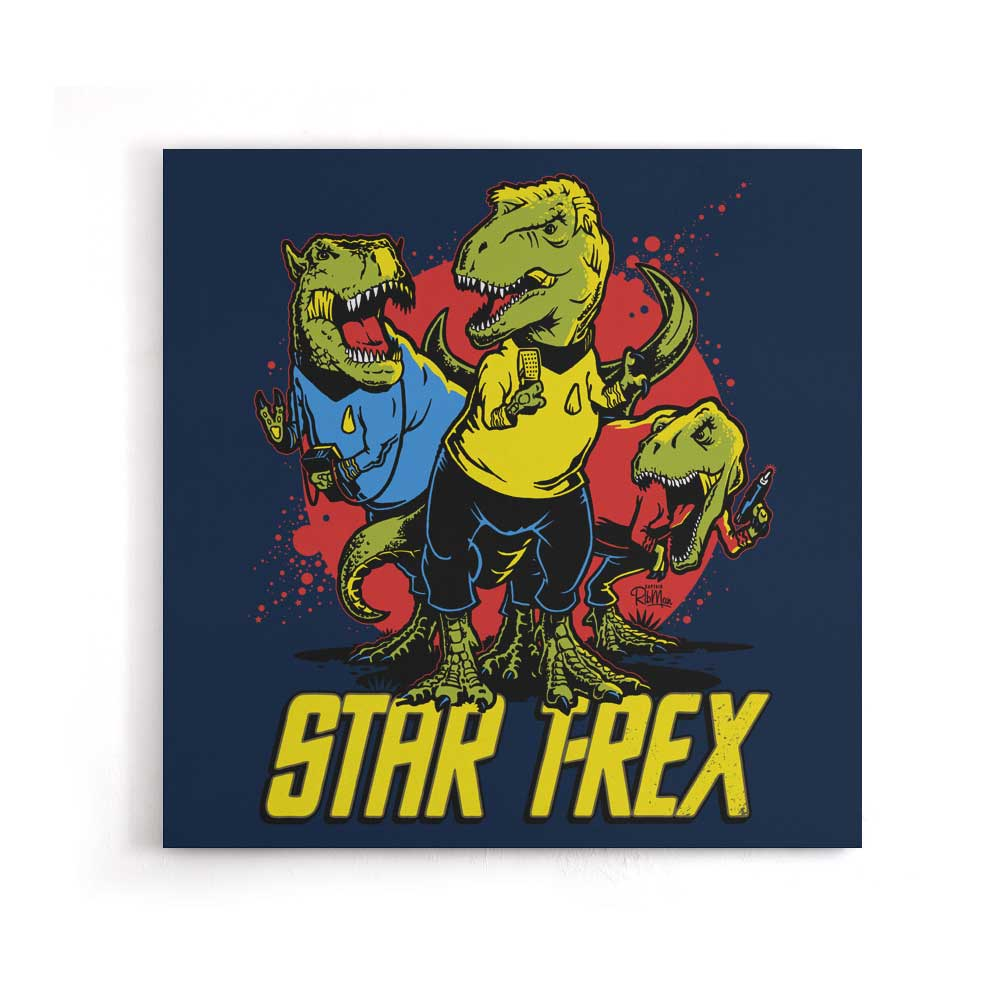 Star T-Rex - Canvas Print