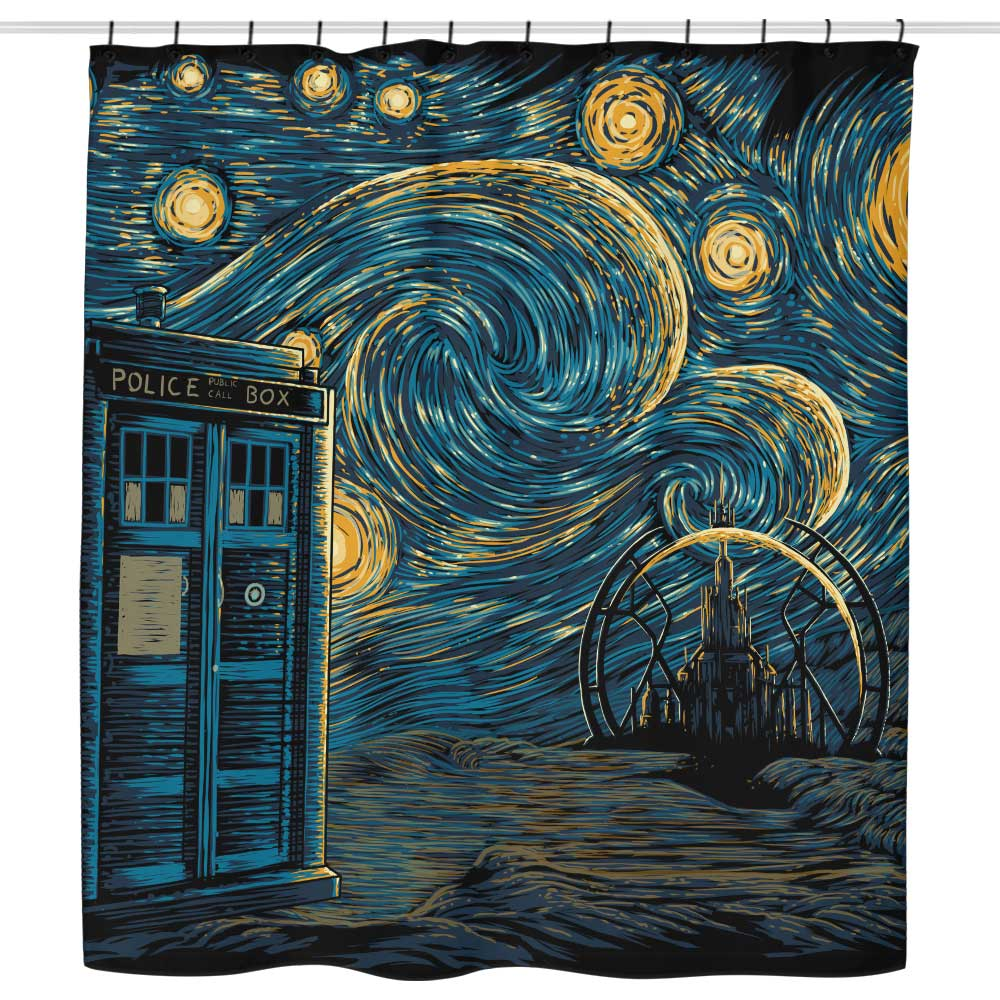 Starry Gallifrey - Shower Curtain