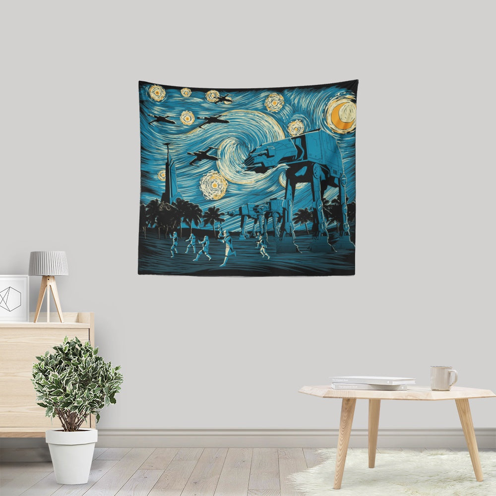 Starry Scarif - Wall Tapestry
