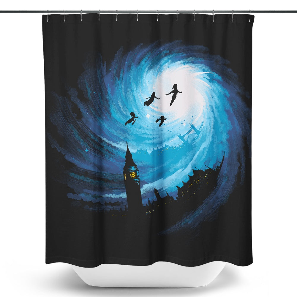 Straight on 'til Morning - Shower Curtain
