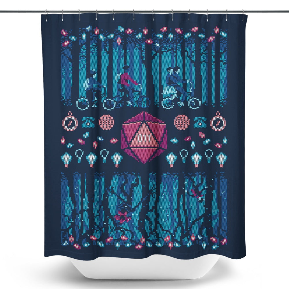 Strange Ugly Sweater - Shower Curtain